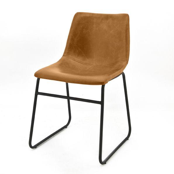 0800 Chair Logan Light Brown Cognac Kopen