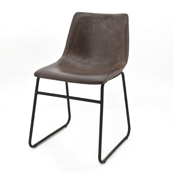 0801 Chair Logan Dark Brown Kopen