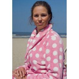 Pink dottie / Dames badjas Kopen