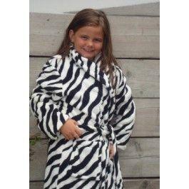 Little Zebra badjas / kinderbadjas Kopen