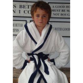 Little White-Blue badjas / Kinderbadjas met capuchon Kopen