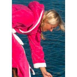 Pink met Capuchon / Dames badjas Kopen