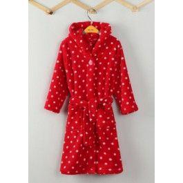 Stippen badjas rood Kopen