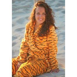 Dames badjas tijgertje – fleece badjas Kopen