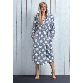 Stippen badjas met capuchon Kopen