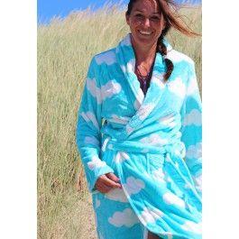 Dames badjas met wolken Kopen