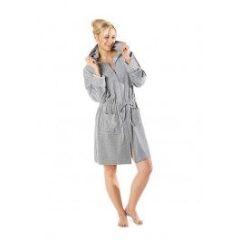 Grijze rits badjas voor dames Kopen