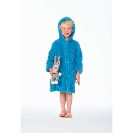 Kinderbadjas van Woody – blauw Kopen