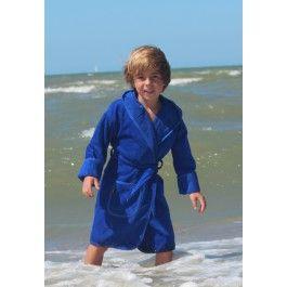 Kinderbadjas kobaltblauw Kopen