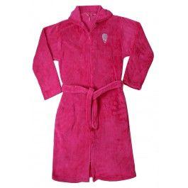 Roze kinderbadjas met rits Kopen