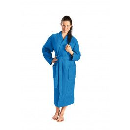 Kobaltblauwe badjas pique Kopen
