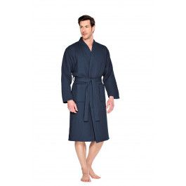 Marineblauwe badjas pique Kopen