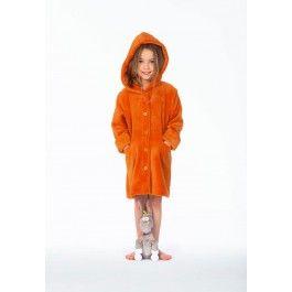Woody kinderbadjas oranje Kopen