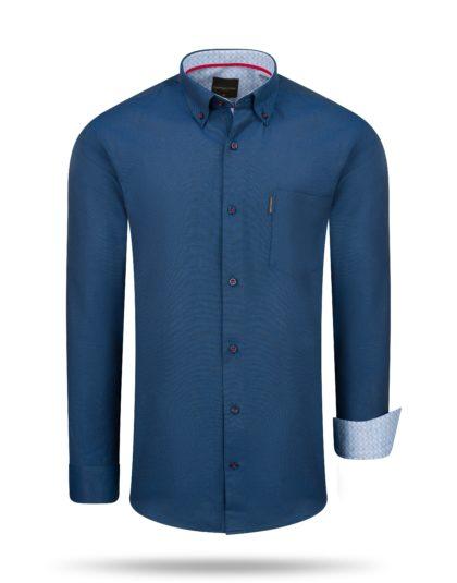 Regular Fit Overhemd Navy