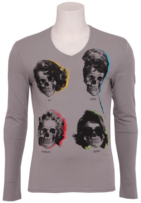 9008 MOVIE STAR – Antony Morato – T-shirts – Grijs Kopen