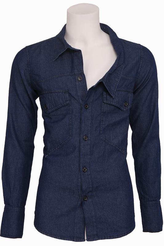 Uphill Denim – Shirt Jacket – Zumo – Overhemden – Blauw Kopen