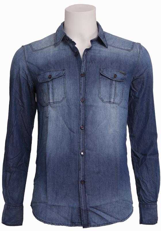 7010 DENIM – Antony Morato – Overhemden – Blauw Kopen