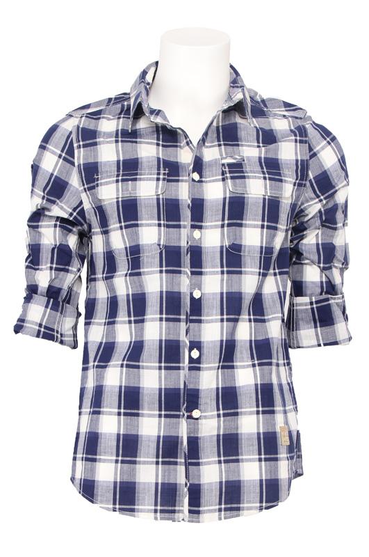 Guess overhemd – Indigo – Blauw/wit Kopen