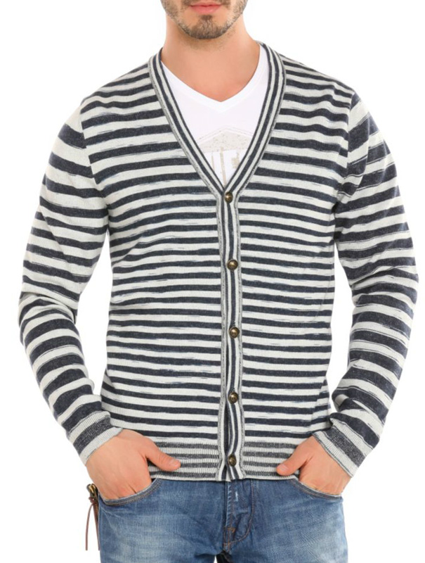 Guess vest – Sweater Morrison Indigo – Blauw / wit Kopen