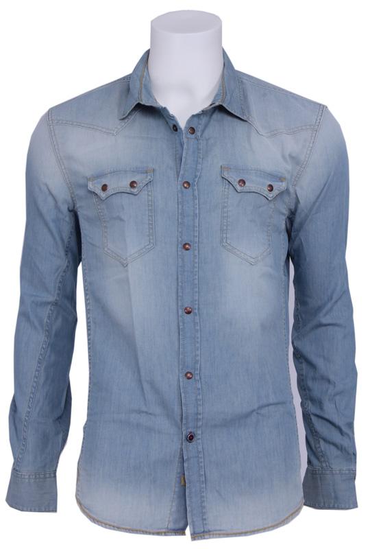 Alec shirt – Guess – Overhemden – Blauw Kopen