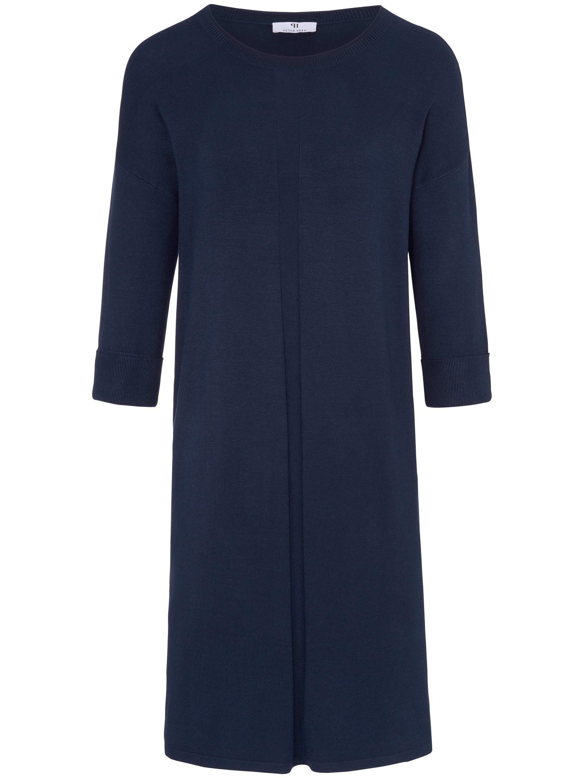 Gebreide jurk met 3/4-mouwen Van Peter Hahn blauw Kopen