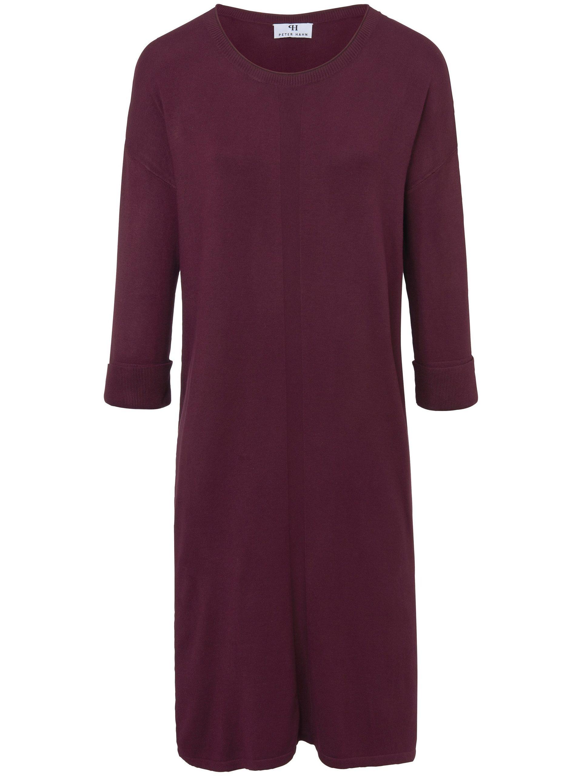 Gebreide jurk met 3/4-mouwen Van Peter Hahn rood Kopen