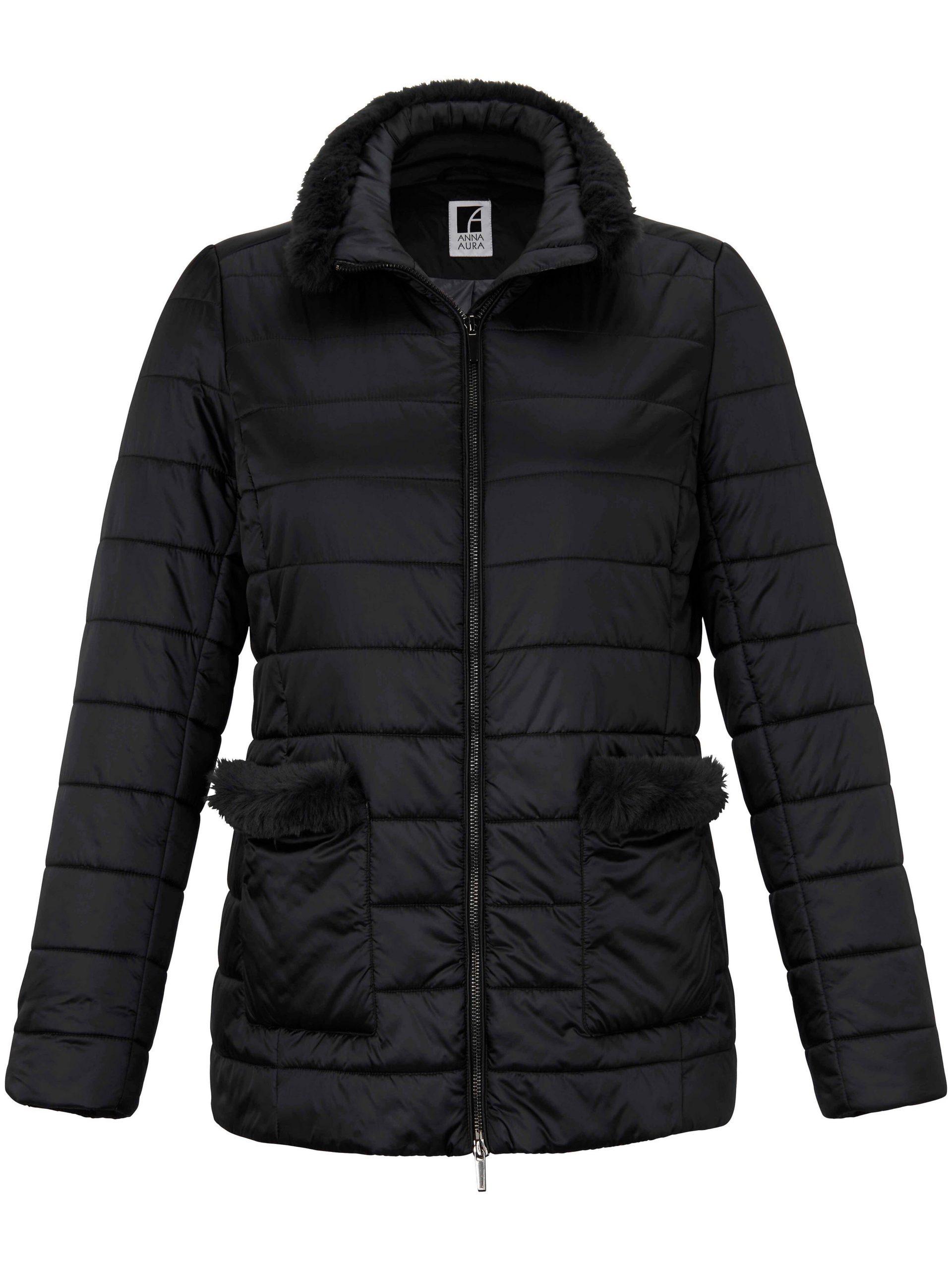 Gewatteerde jas met staande kraag Van Anna Aura zwart Kopen