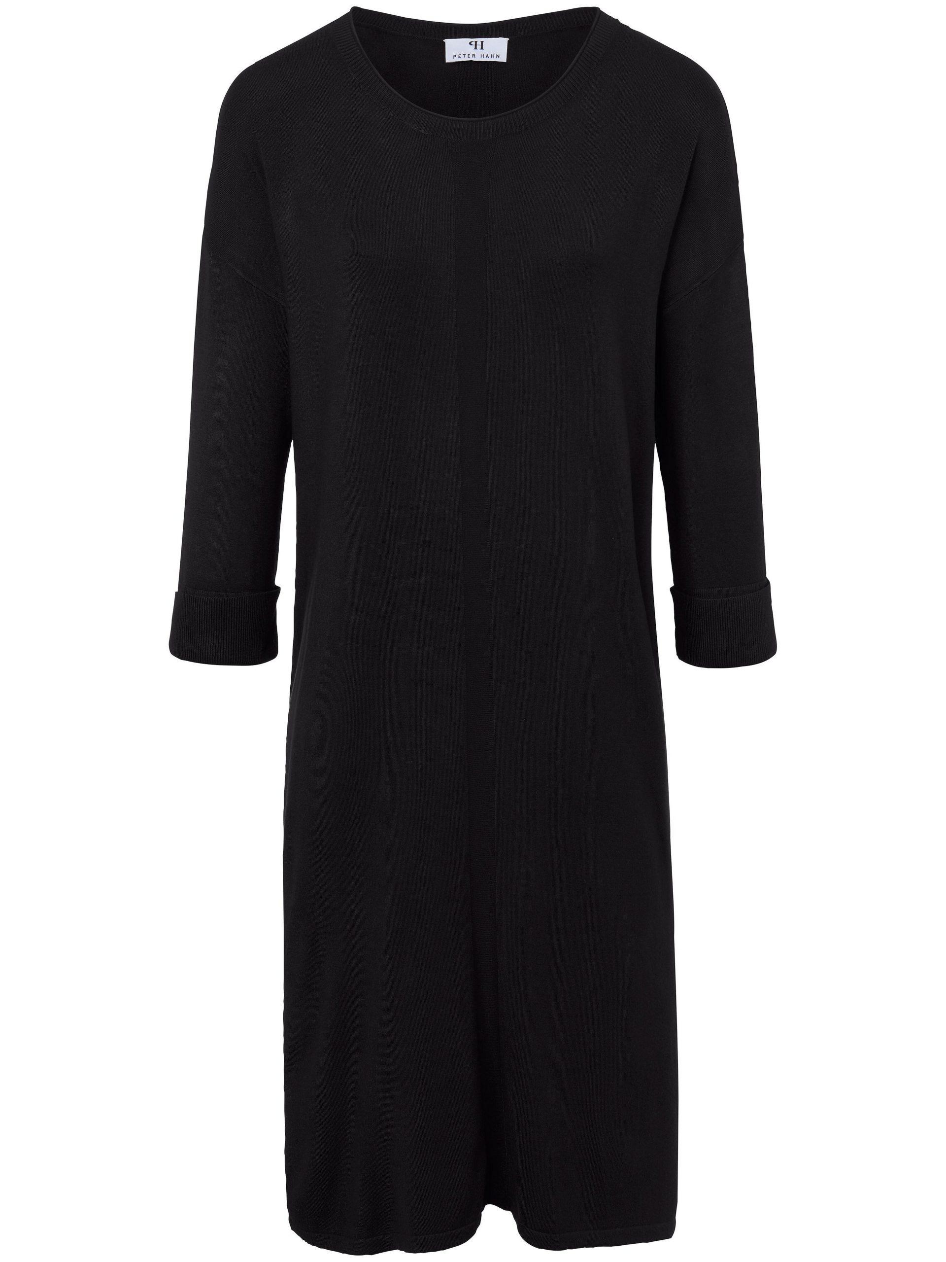 Gebreide jurk met 3/4-mouwen Van Peter Hahn zwart Kopen