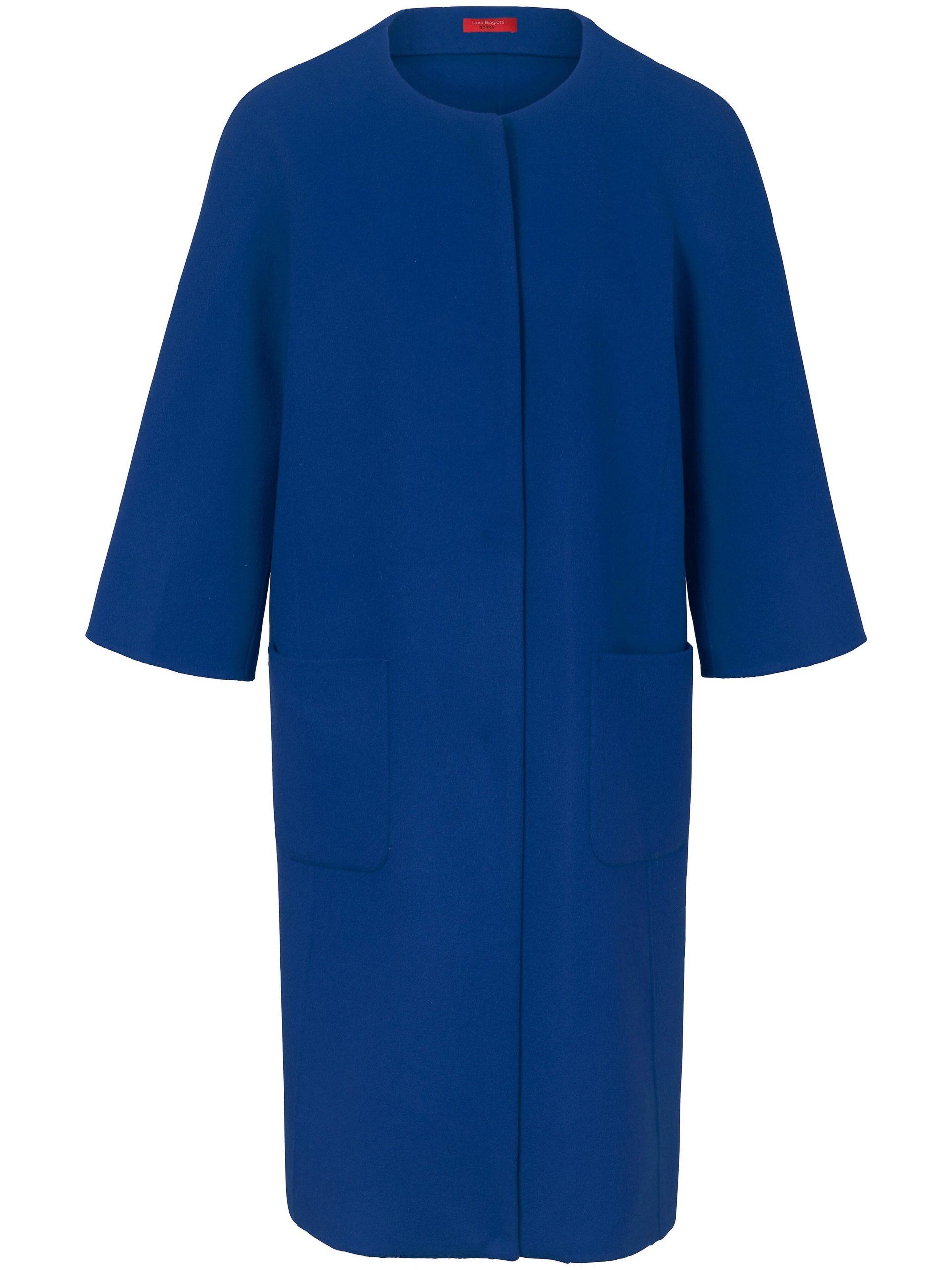 Lange jas met dolmanmouwen Van Laura Biagiotti Donna blauw Kopen