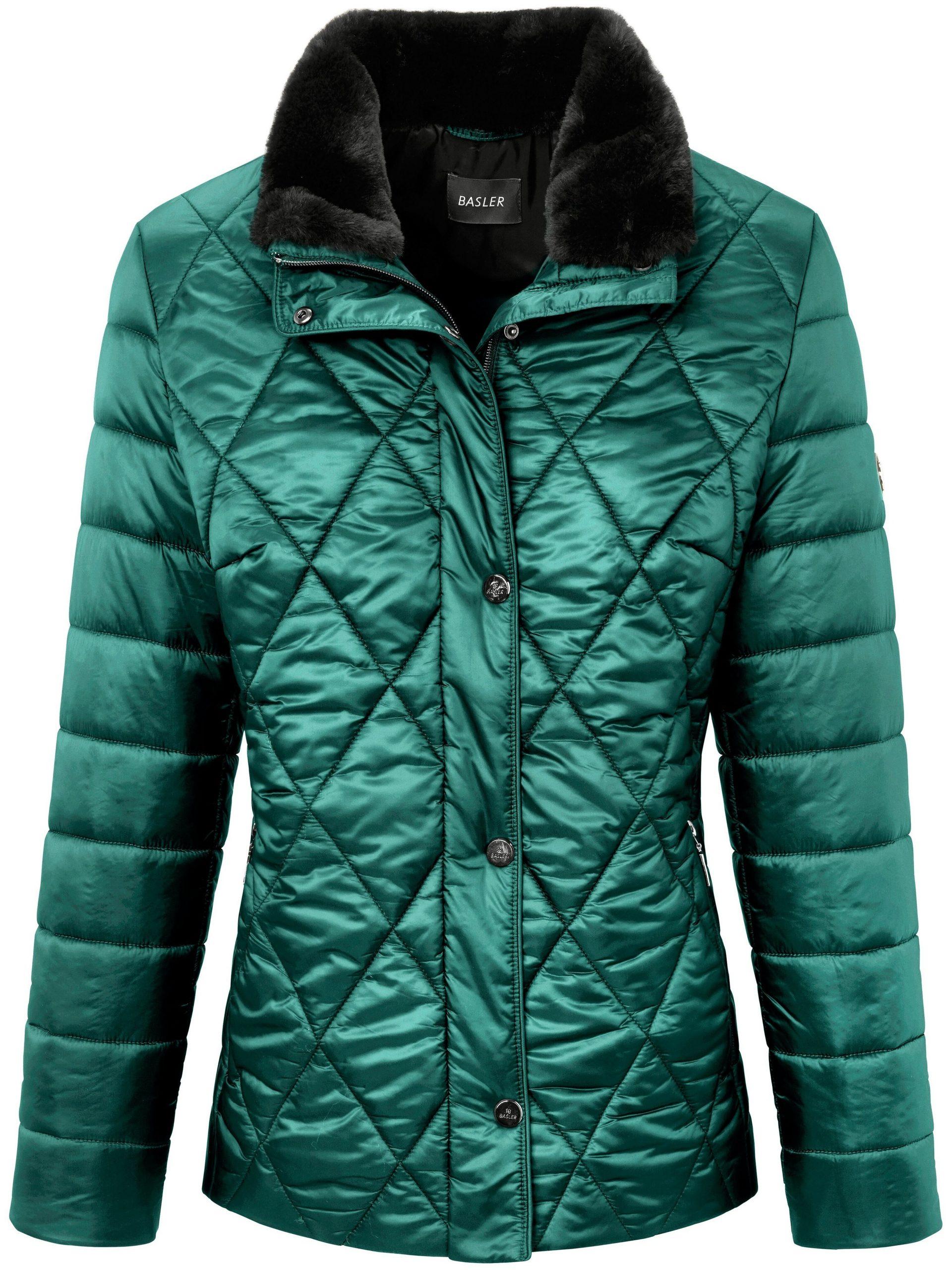 Gewatteerde jas Van Basler groen Kopen