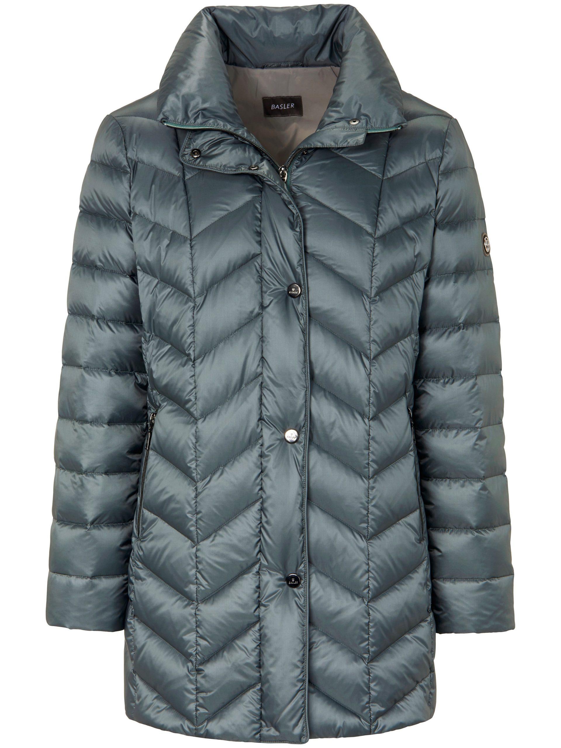 Gewatteerde donzen jas Van Basler blauw Kopen