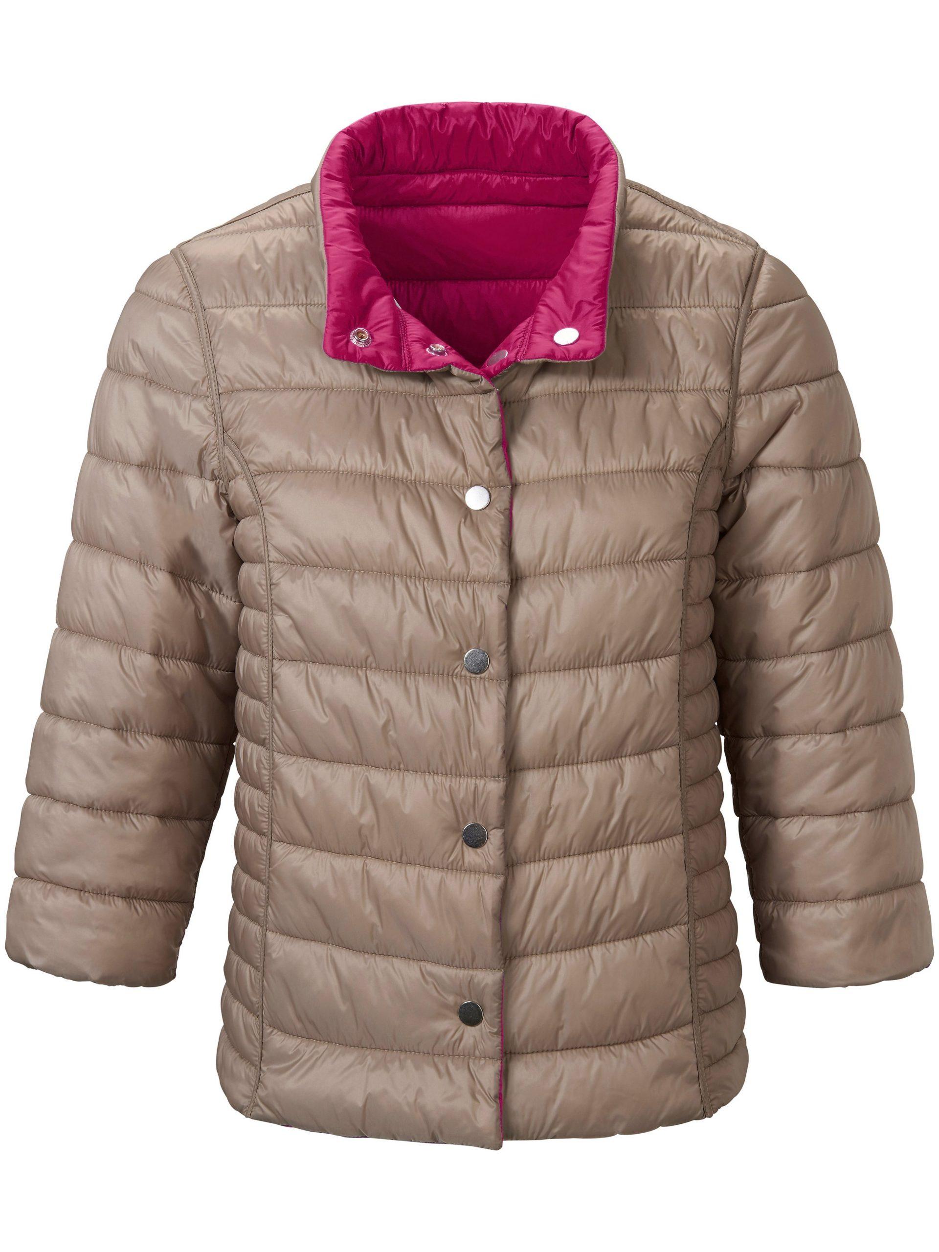 Keerbare gewatteerde jas met 3/4-mouwen Van Looxent roze Kopen