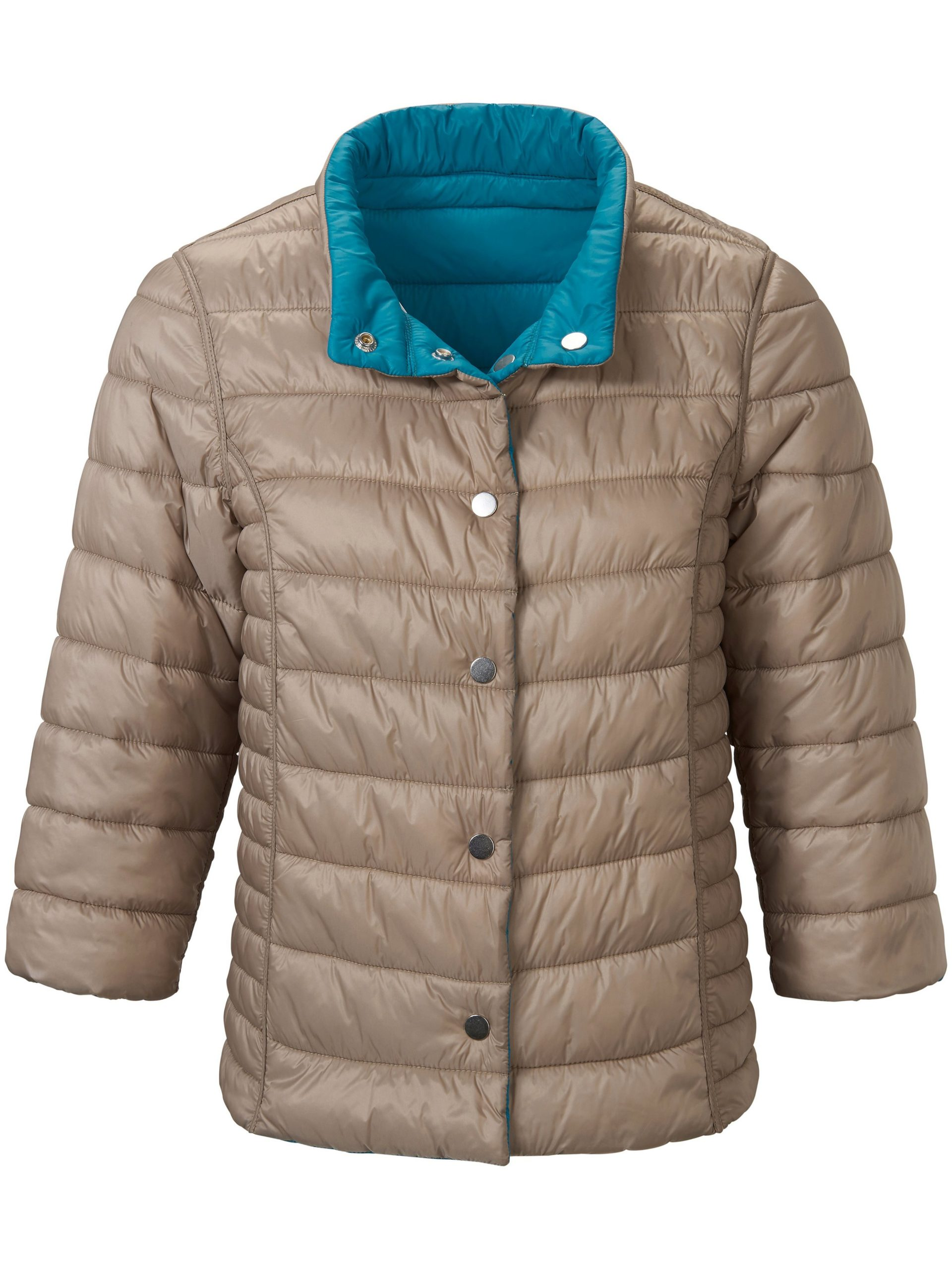 Keerbare gewatteerde jas met 3/4-mouwen Van Looxent blauw Kopen