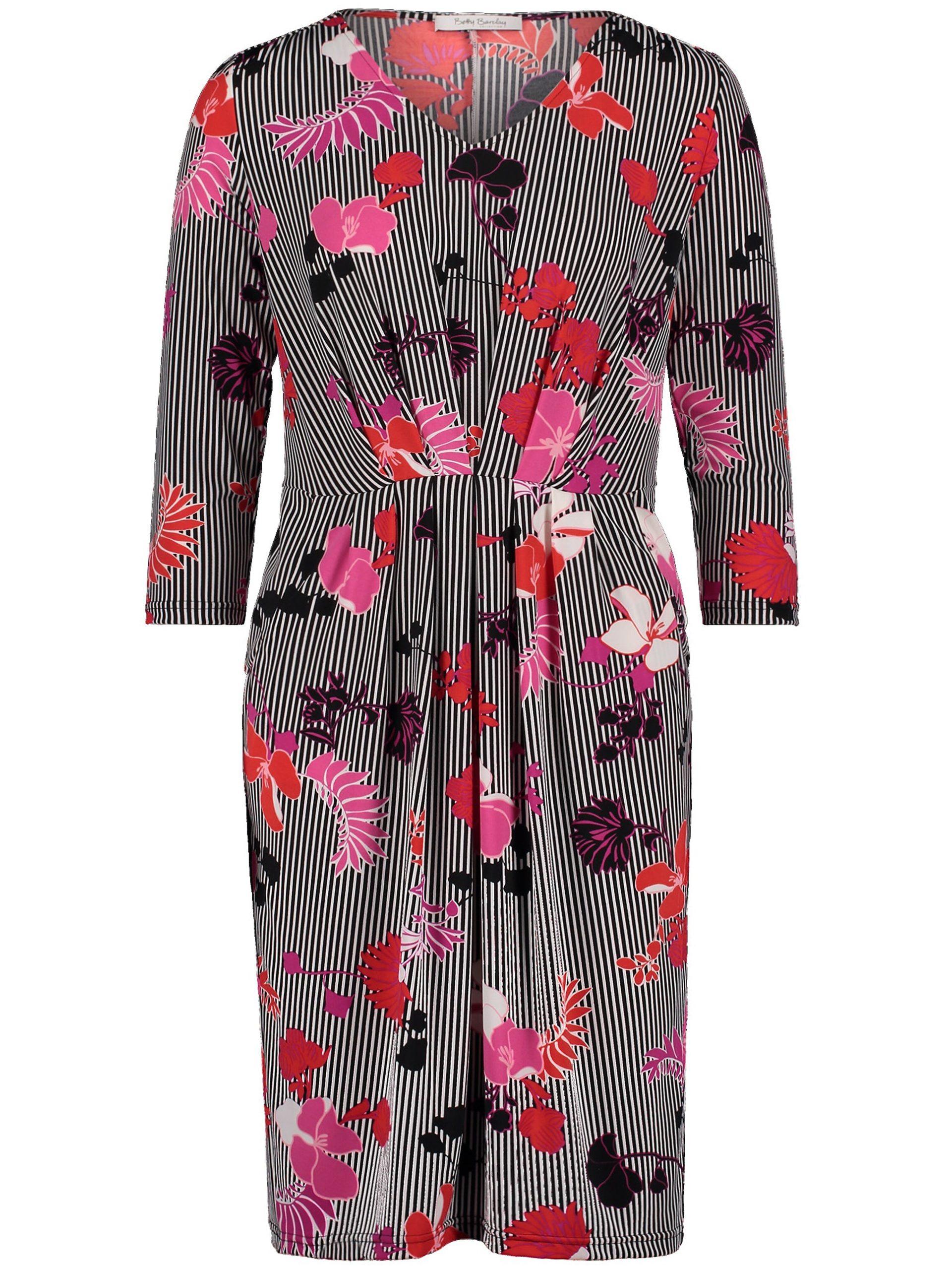 Jerseyjurk met 3/4-mouwen en V-hals Van Betty Barclay multicolour Kopen