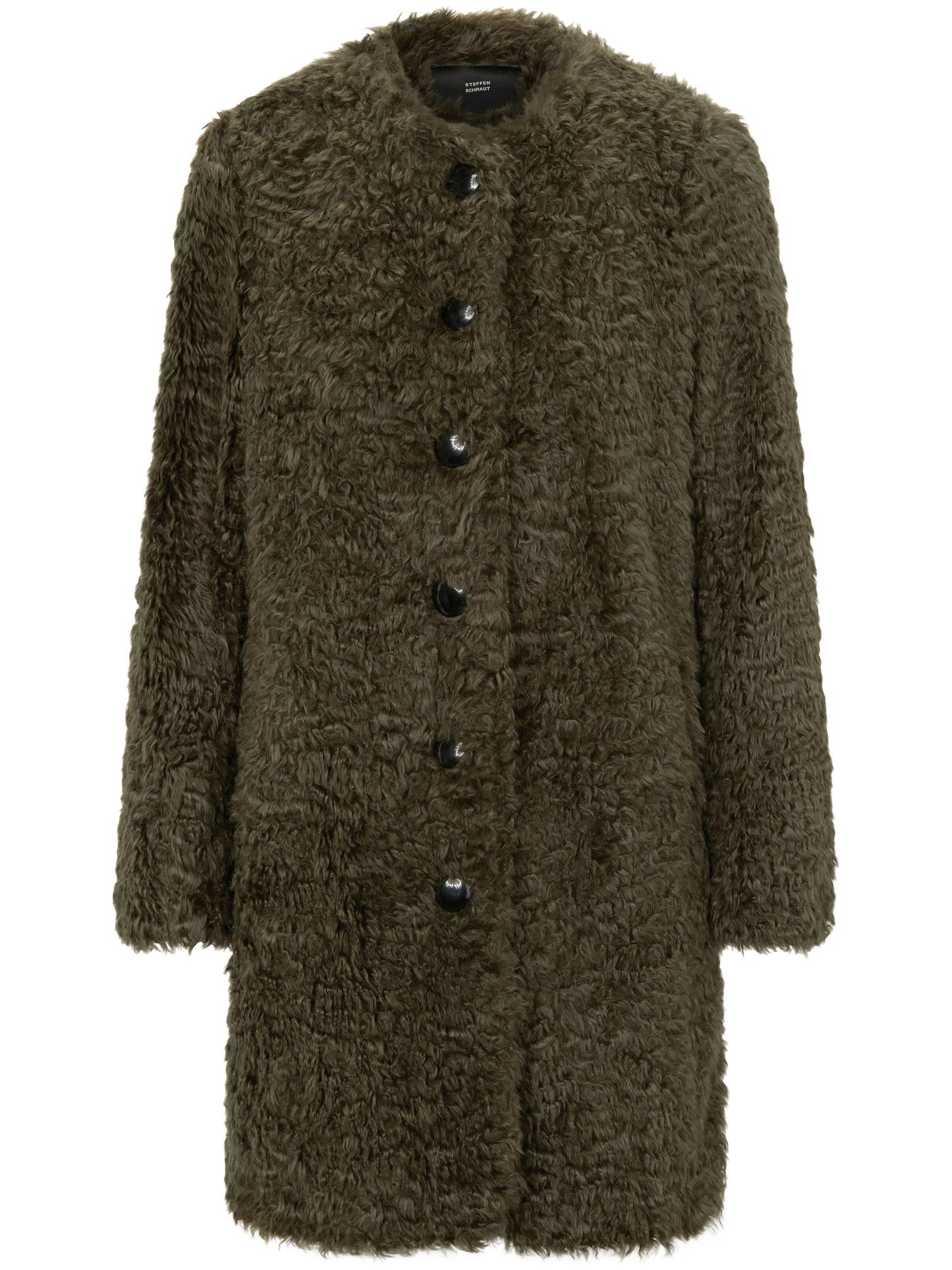 Korte mantel Van Steffen Schraut groen Kopen