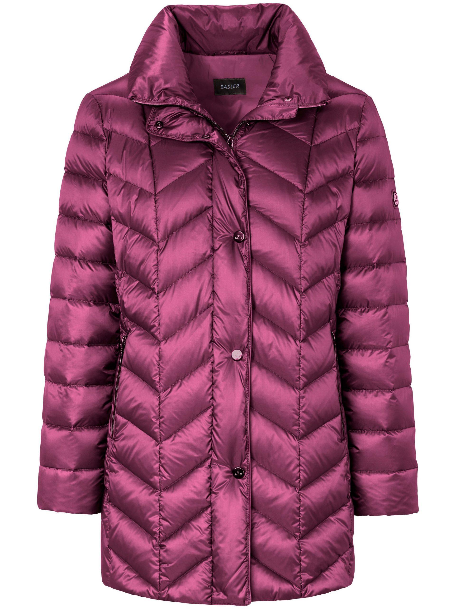 Gewatteerde donzen jas Van Basler roze Kopen