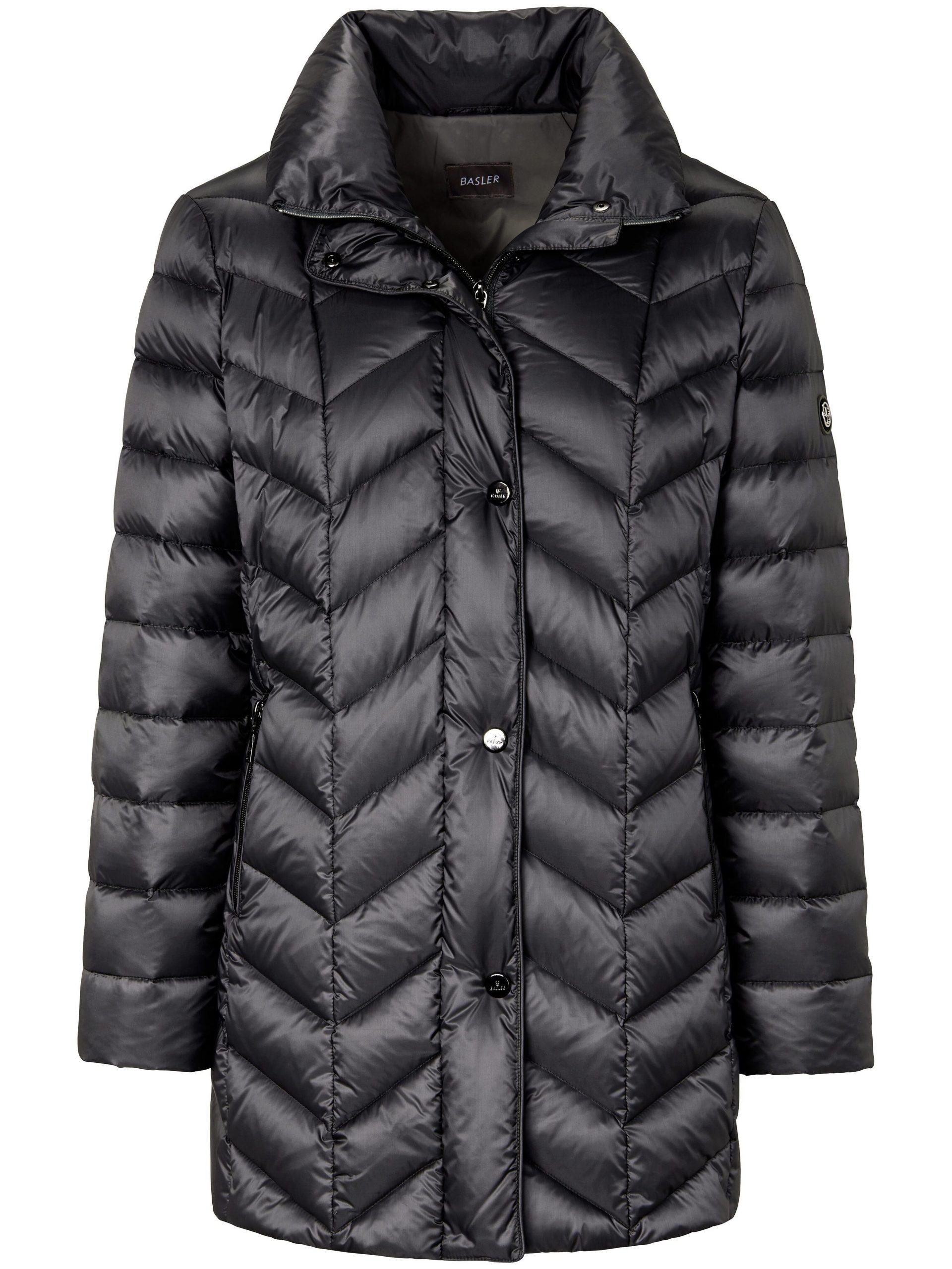 Gewatteerde donzen jas Van Basler zwart Kopen
