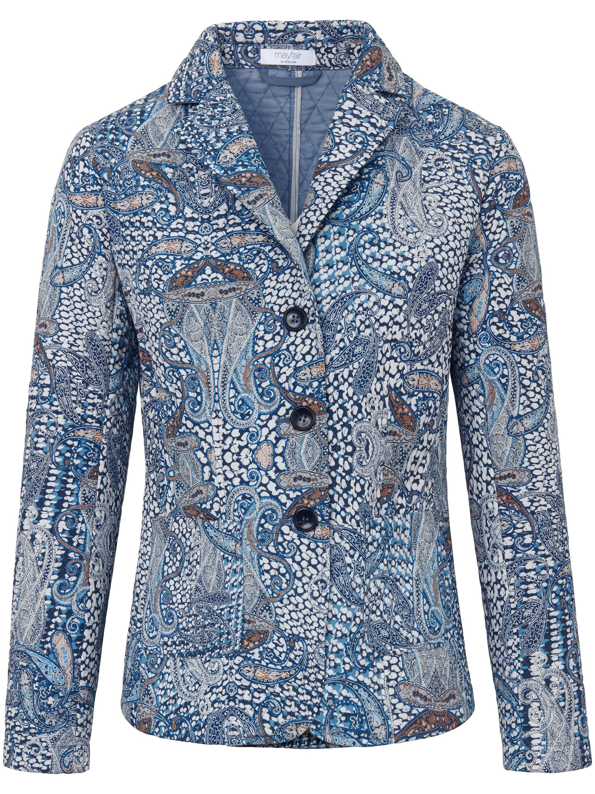 Gewatteerde blazer met print Van mayfair by Peter Hahn multicolour Kopen
