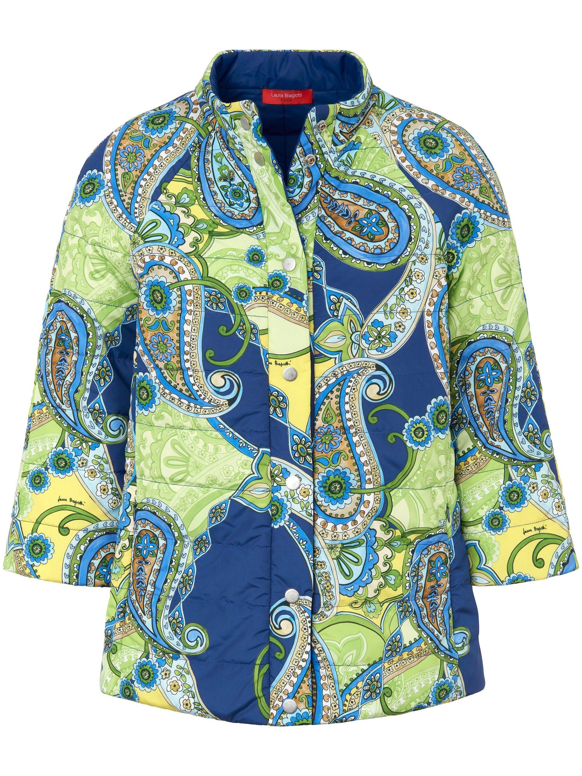 Gewatteerde jas met 7/8-mouwen Van Laura Biagiotti Roma multicolour Kopen