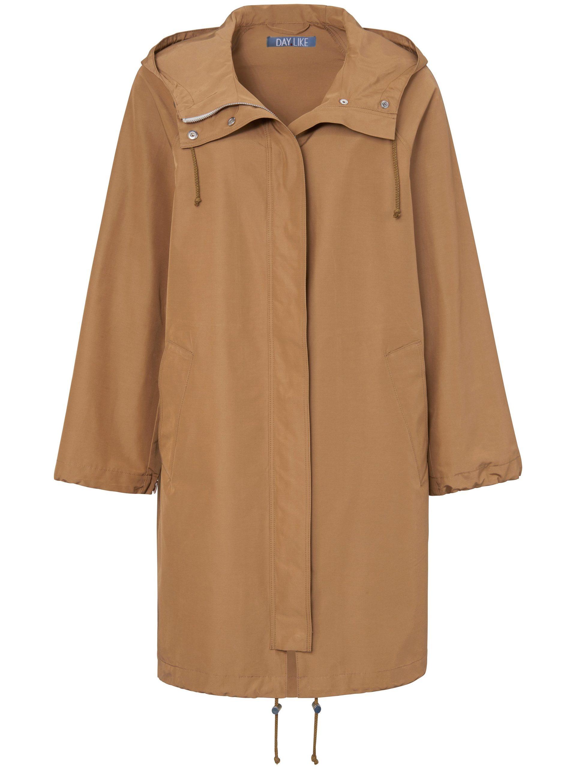 Lange jas met capuchon Van DAY.LIKE bruin Kopen
