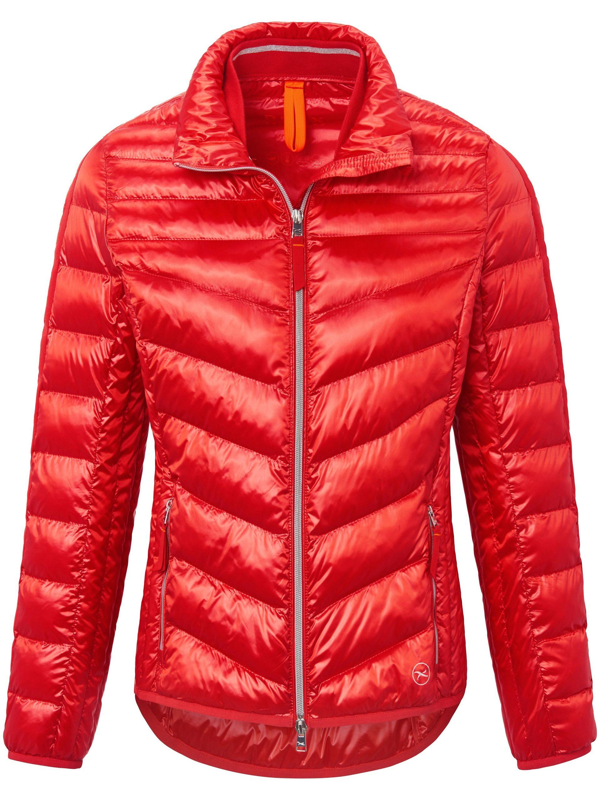 Doorgestikt jasje met staande kraag Van Brax Feel Good rood Kopen