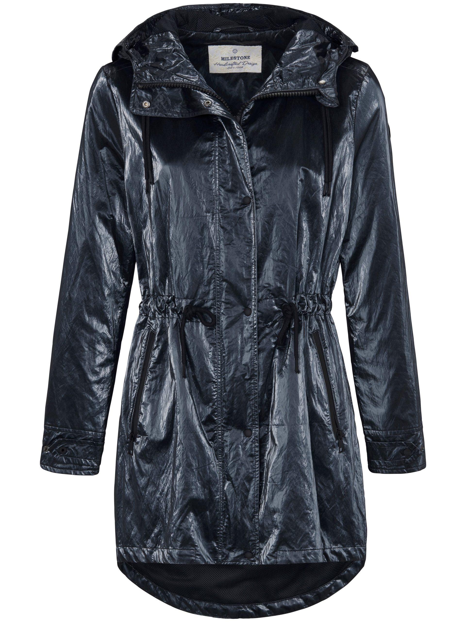 Lange jas met capuchon Van Milestone blauw Kopen
