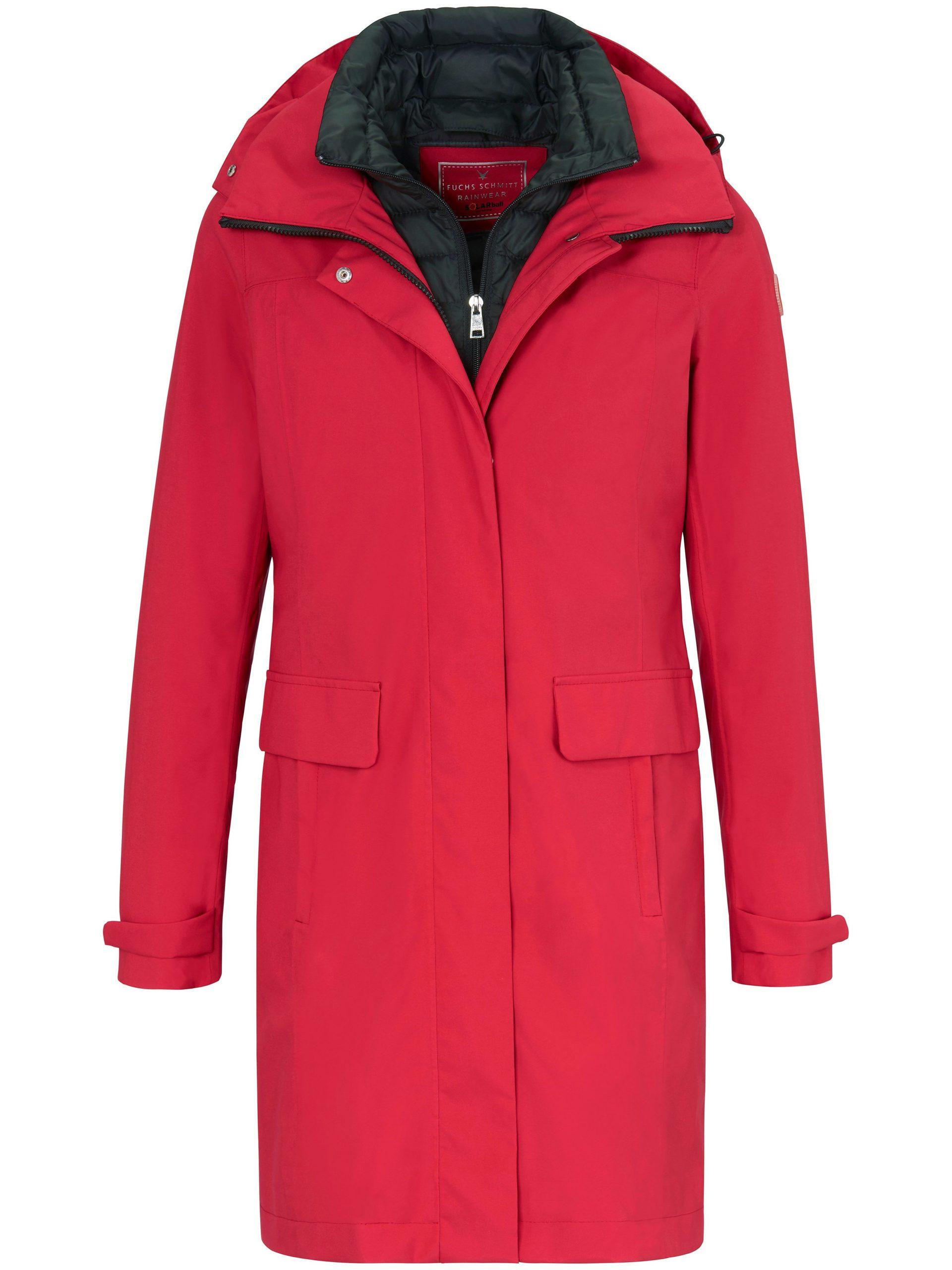 Lange rainwear-jas met capuchon Van Fuchs & Schmitt rood Kopen