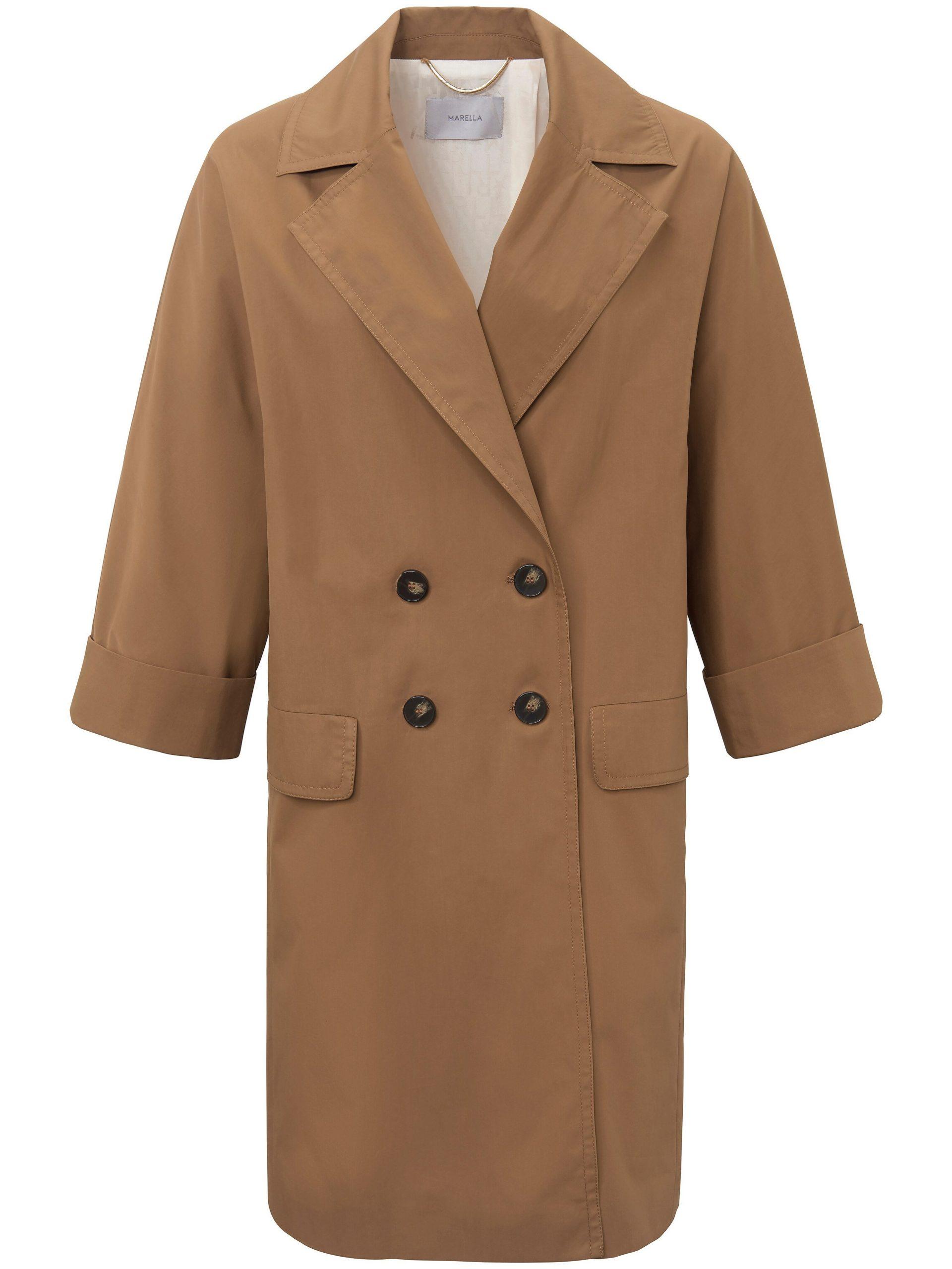 Lange jas van 100% katoen Van Marella bruin Kopen