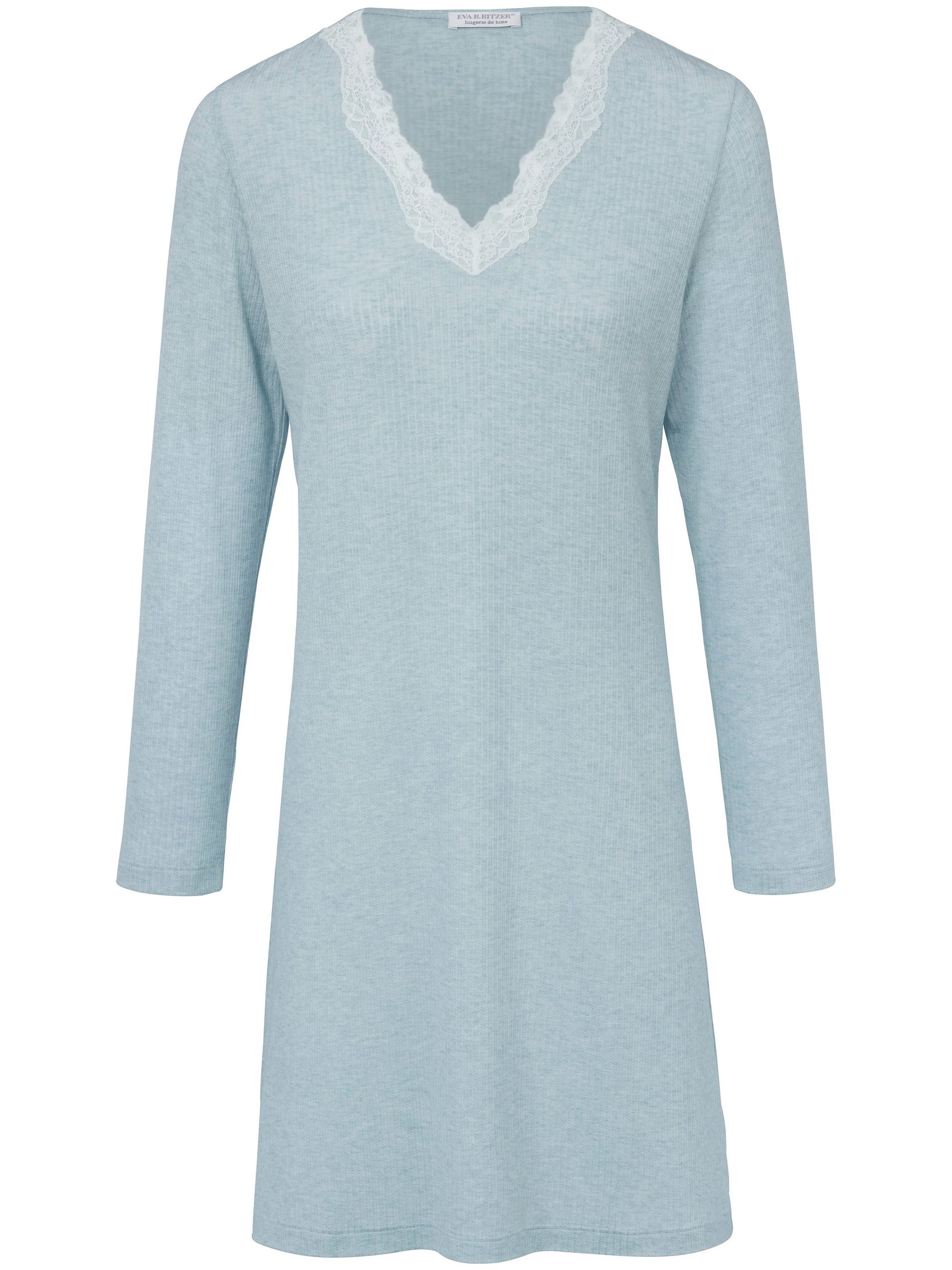 Nachthemd met V-hals Van Eva B. Bitzer blauw Kopen