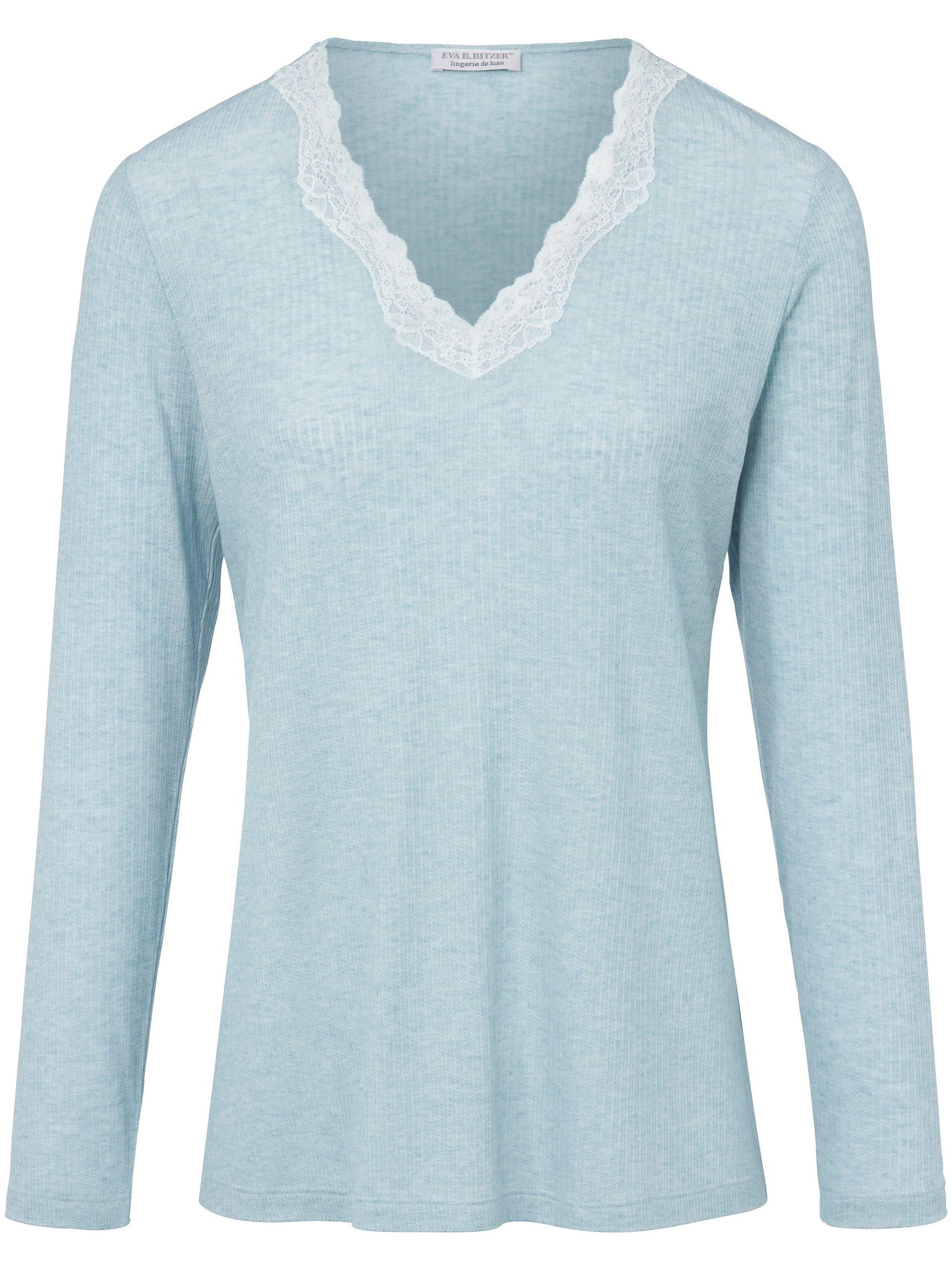 Pyjama met V-hals Van Eva B. Bitzer blauw Kopen
