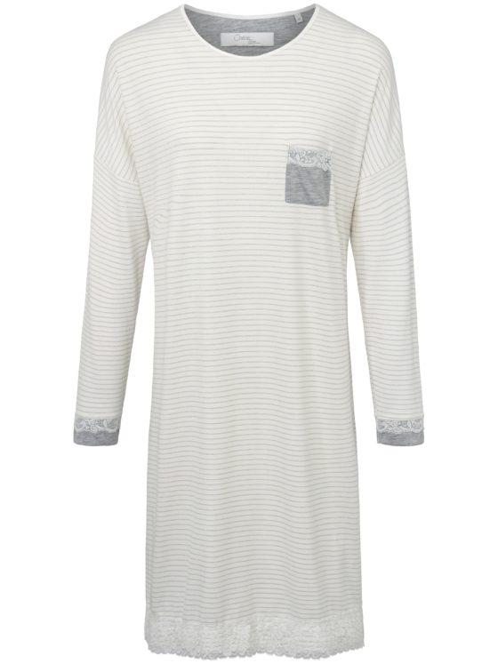 Nachthemd met lange mouwen Van Cherie Line wit Kopen