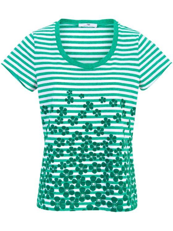 Shirt van 100% katoen met ronde hals Van Peter Hahn groen Kopen