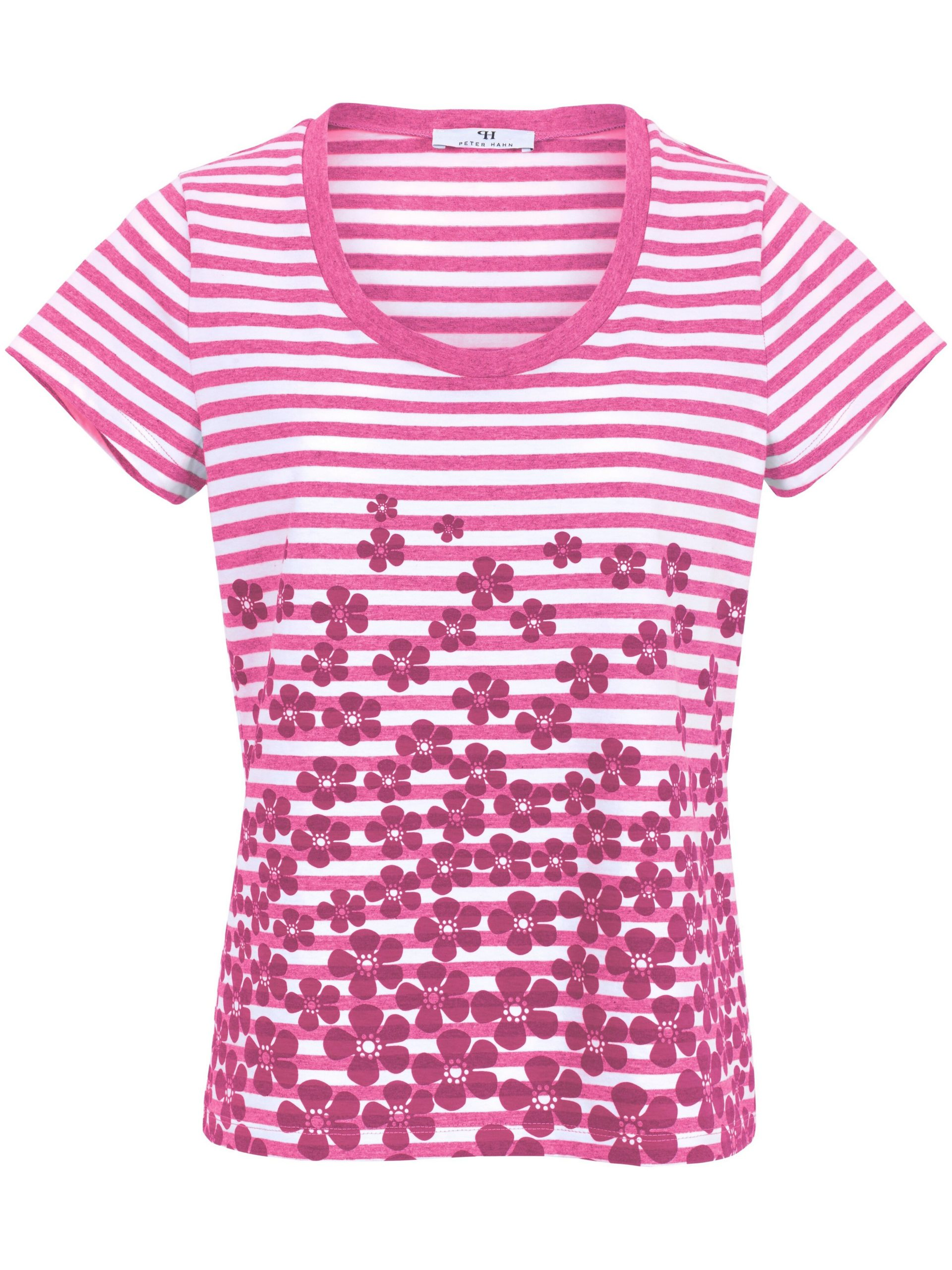 Shirt van 100% katoen met ronde hals Van Peter Hahn roze Kopen