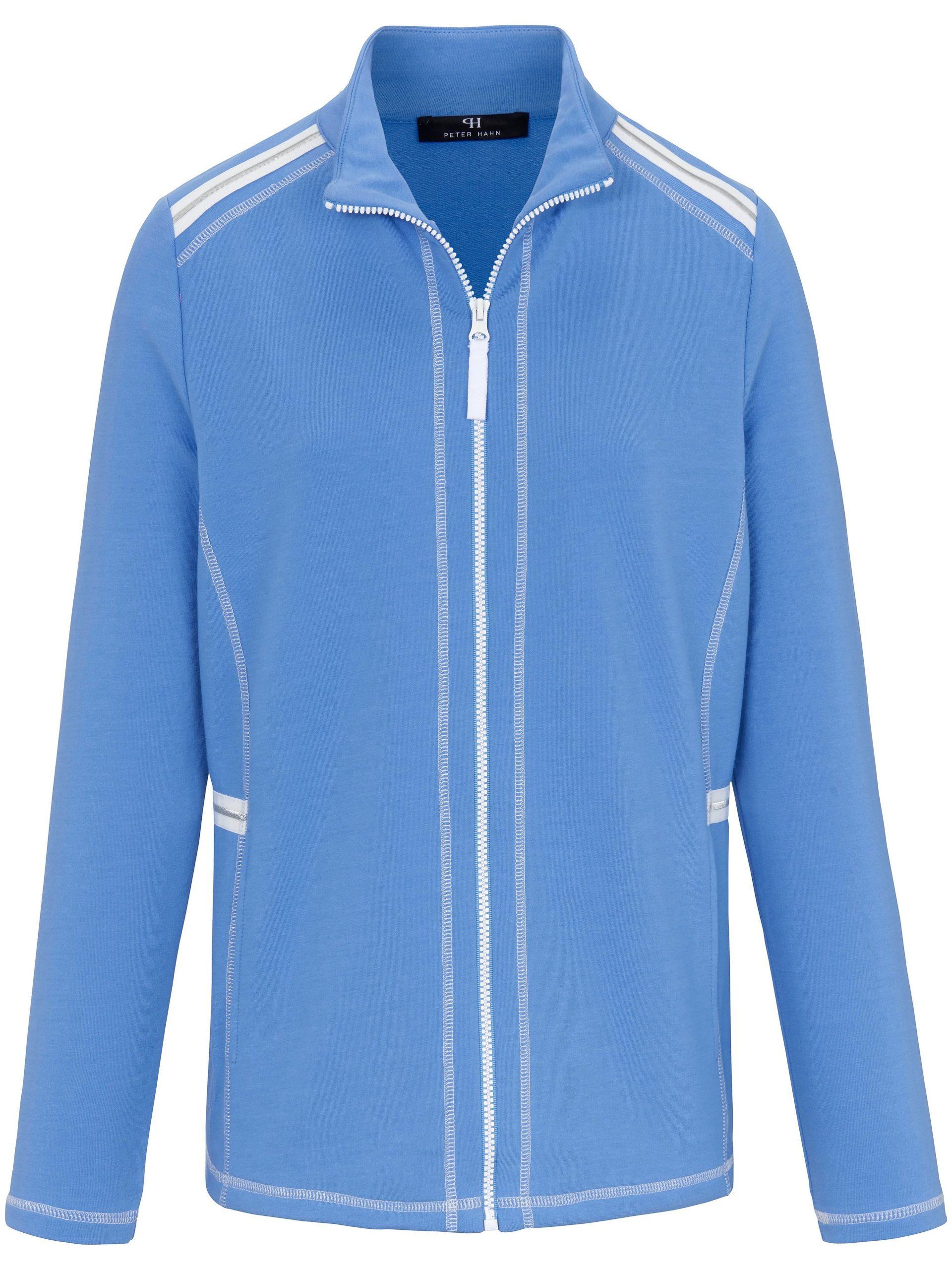 Jasje in sweatkwaliteit met staande kraag Van Peter Hahn blauw Kopen